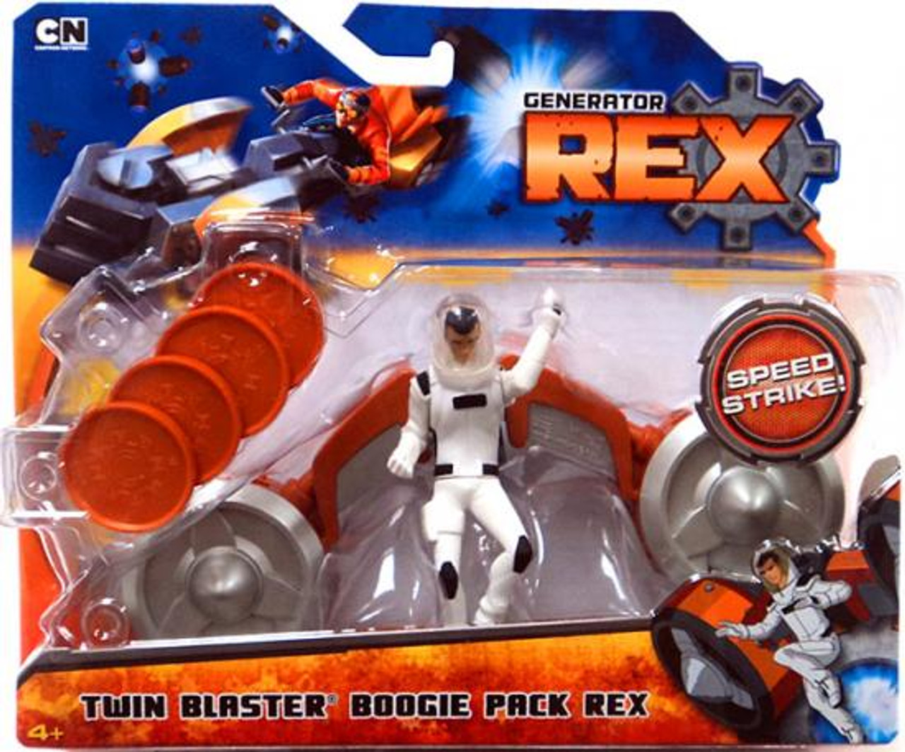 Generator Rex Twin Blaster Boogie Pack Rex Action Figure