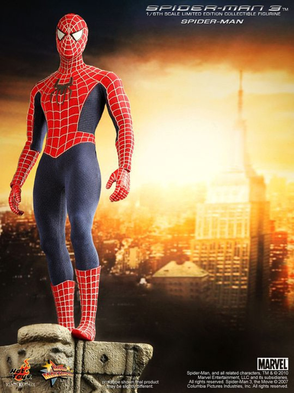 Spider-Man 3 Movie Masterpiece Spider-Man 1/6 Collectible Figure