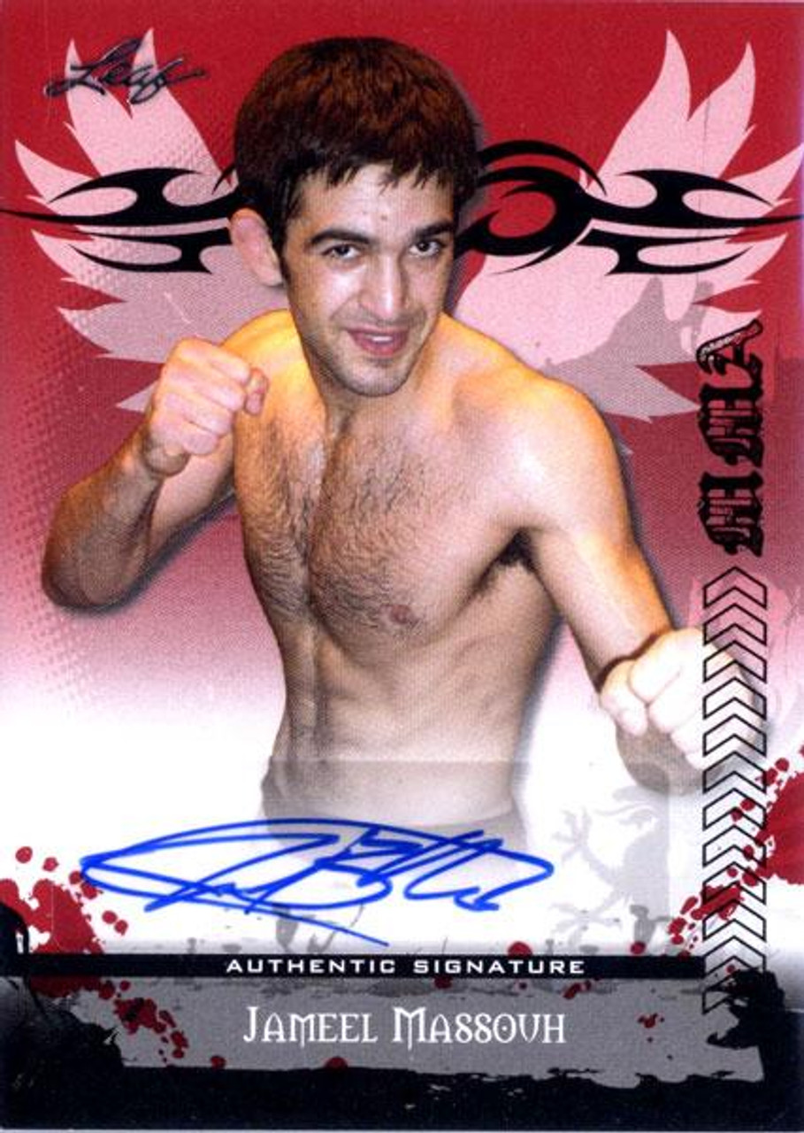 MMA Series 2010 Jameel Massouh Autograph Card AV-JM1