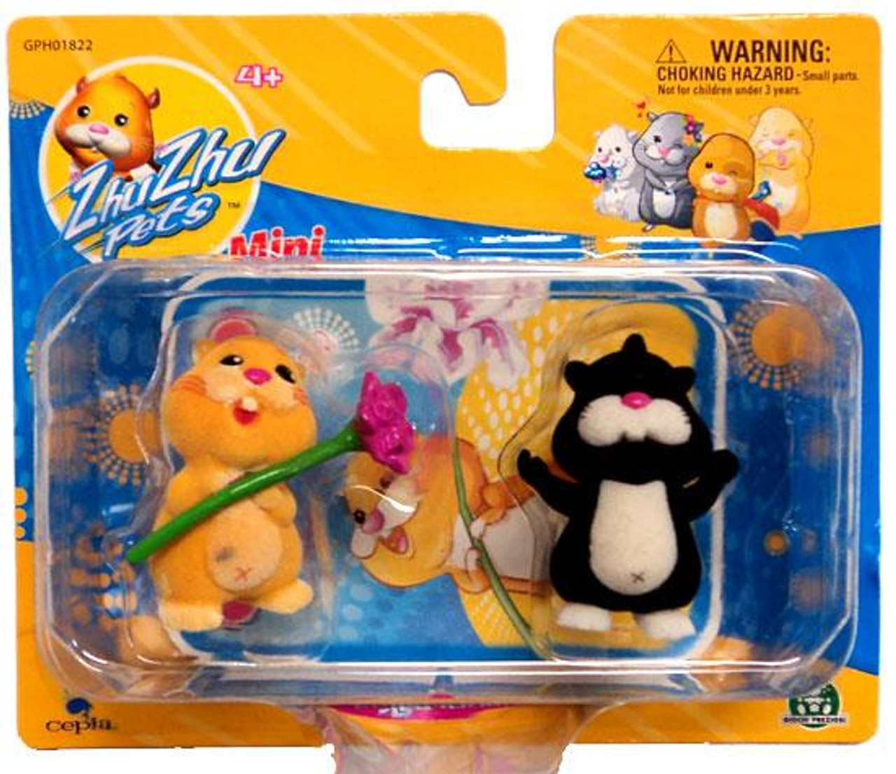Zhu Zhu Pets Nugget & Rocky Mini Figure 2-Pack