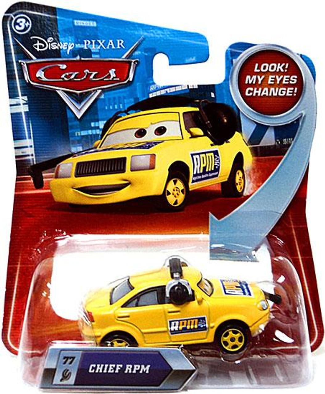 Disney Cars Lenticular Eyes Series 2 Chief RPM Diecast Car