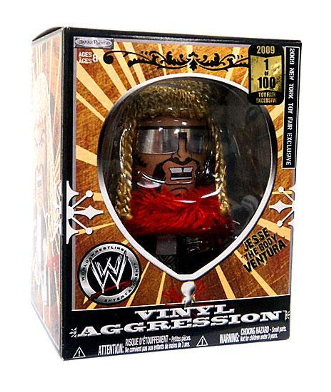 "WWE Wrestling Vinyl Aggression Series 5 Jesse ""The Body"" Ventura Exclusive 3-Inch Vinyl Figure"