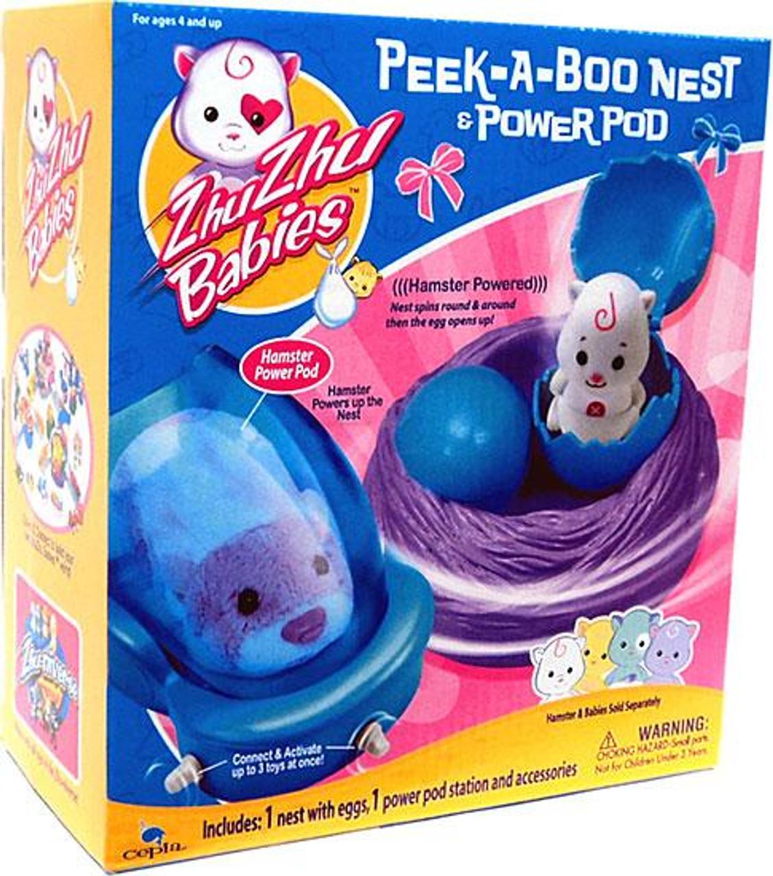 Zhu Zhu Pets Babies Peek-A-Boo Nest & Power Pod Playset