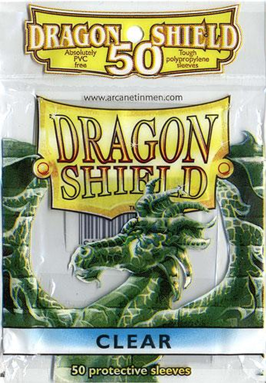 Card Supplies Dragon Shield Clear Standard Card Sleeves [50 Count]
