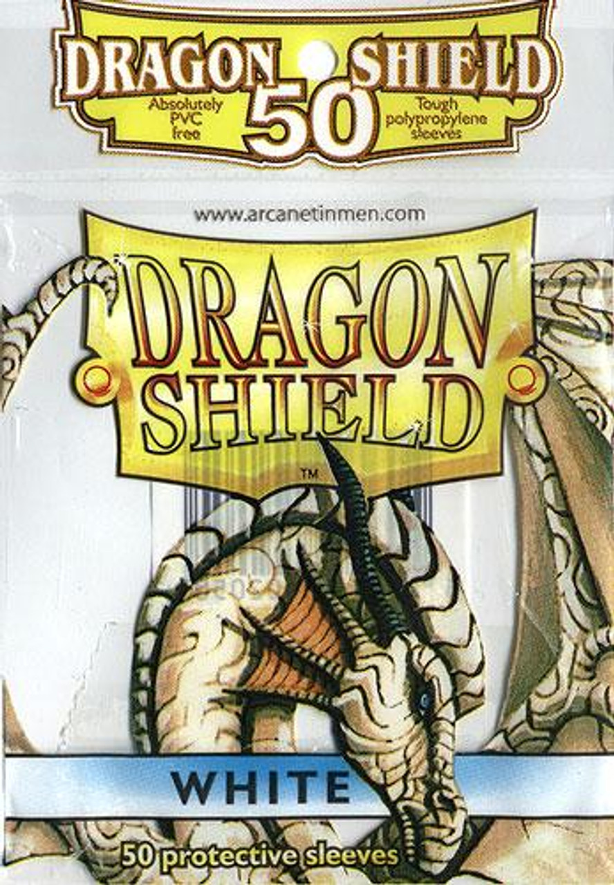 Card Supplies Dragon Shield White Standard Card Sleeves [50 Count]