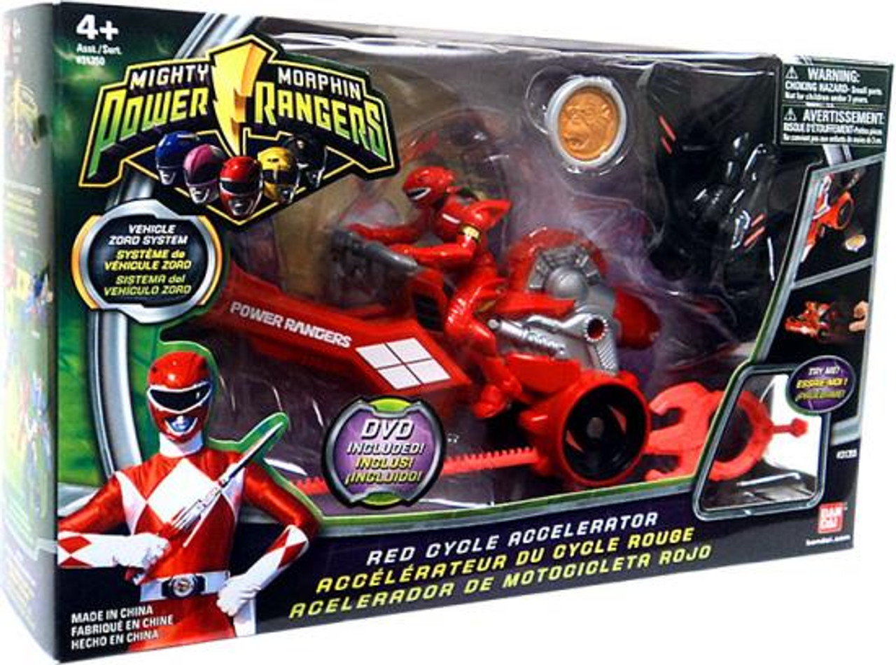 Power Rangers Mighty Morphin Red Cycle Accelerator Action Figure Vehicle