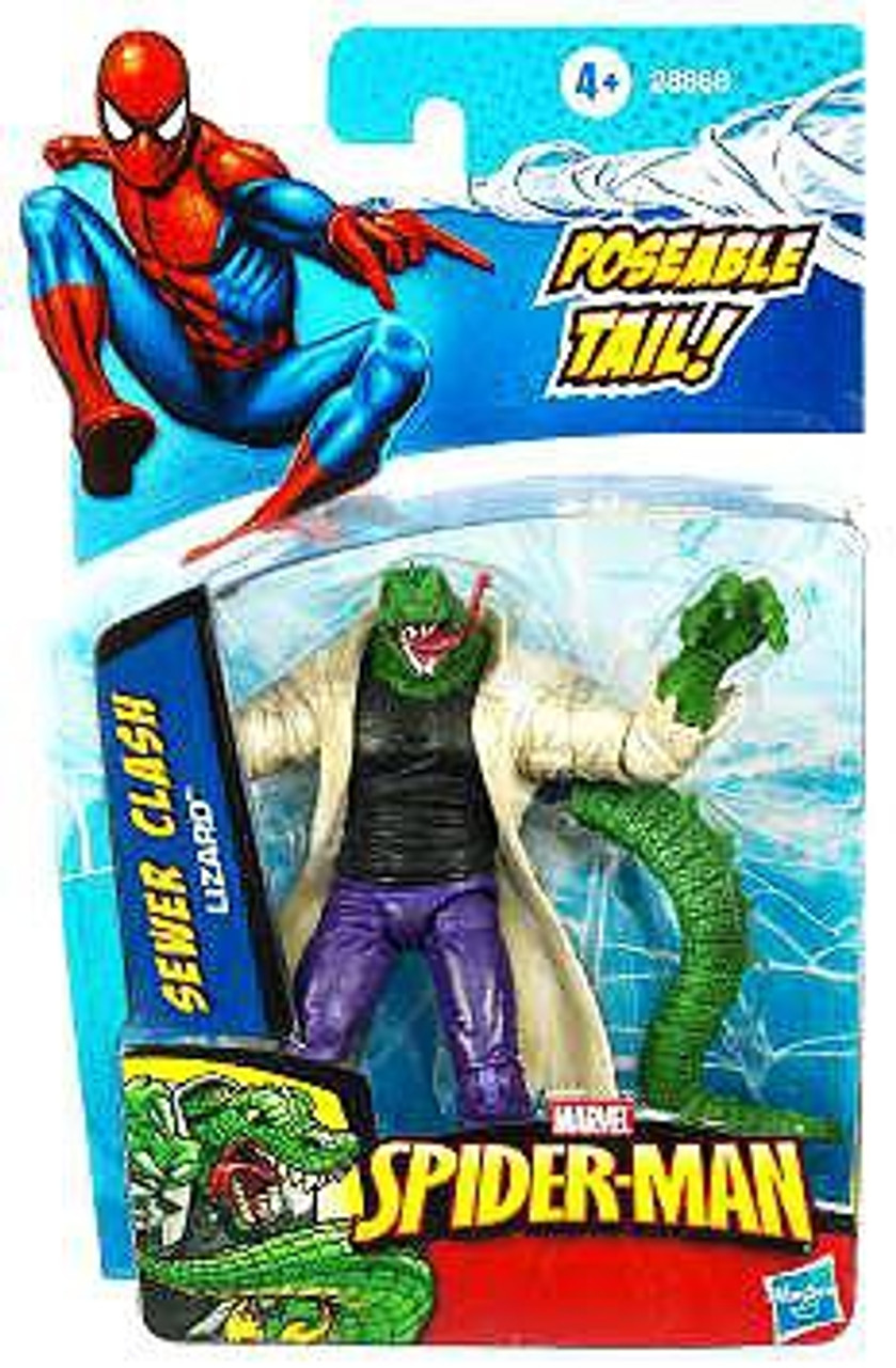 Spider-Man 2010 Sewer Clash Lizard Action Figure