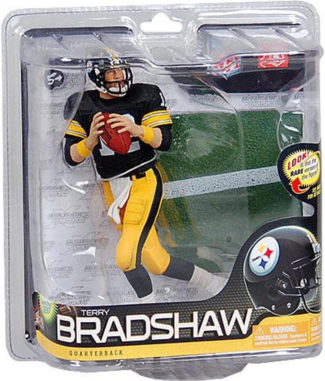 McFarlane Toys NFL Pittsburgh Steelers Sports Picks Series 26 Terry Bradshaw Action Figure [Black Jersey]