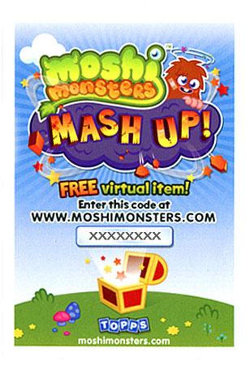 Moshi Monsters Mash Up! Code Card