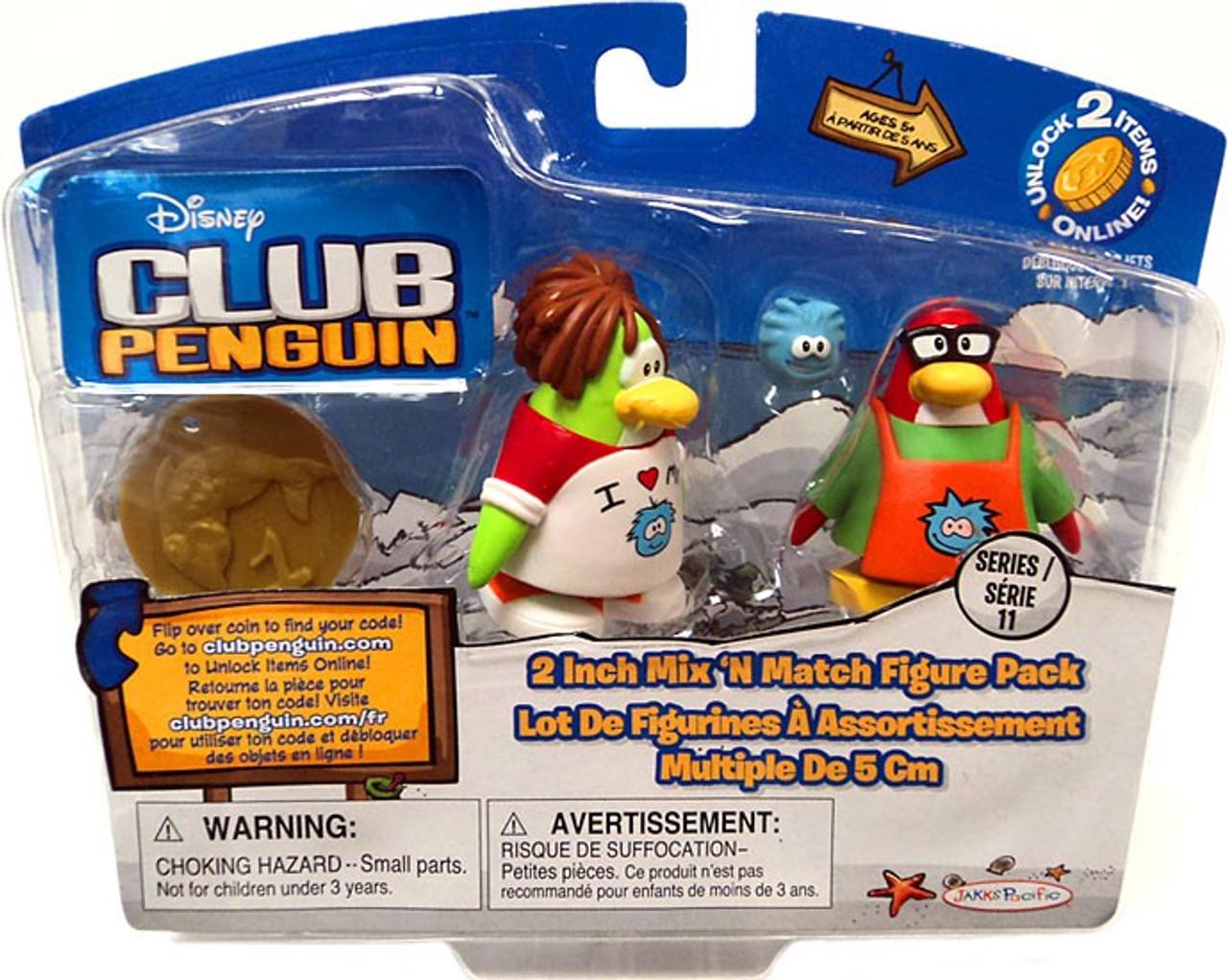 Club Penguin Mix 'N Match Series 11 I Love My Puffle T-Shirt & Puffle Apron Mini Figure Set