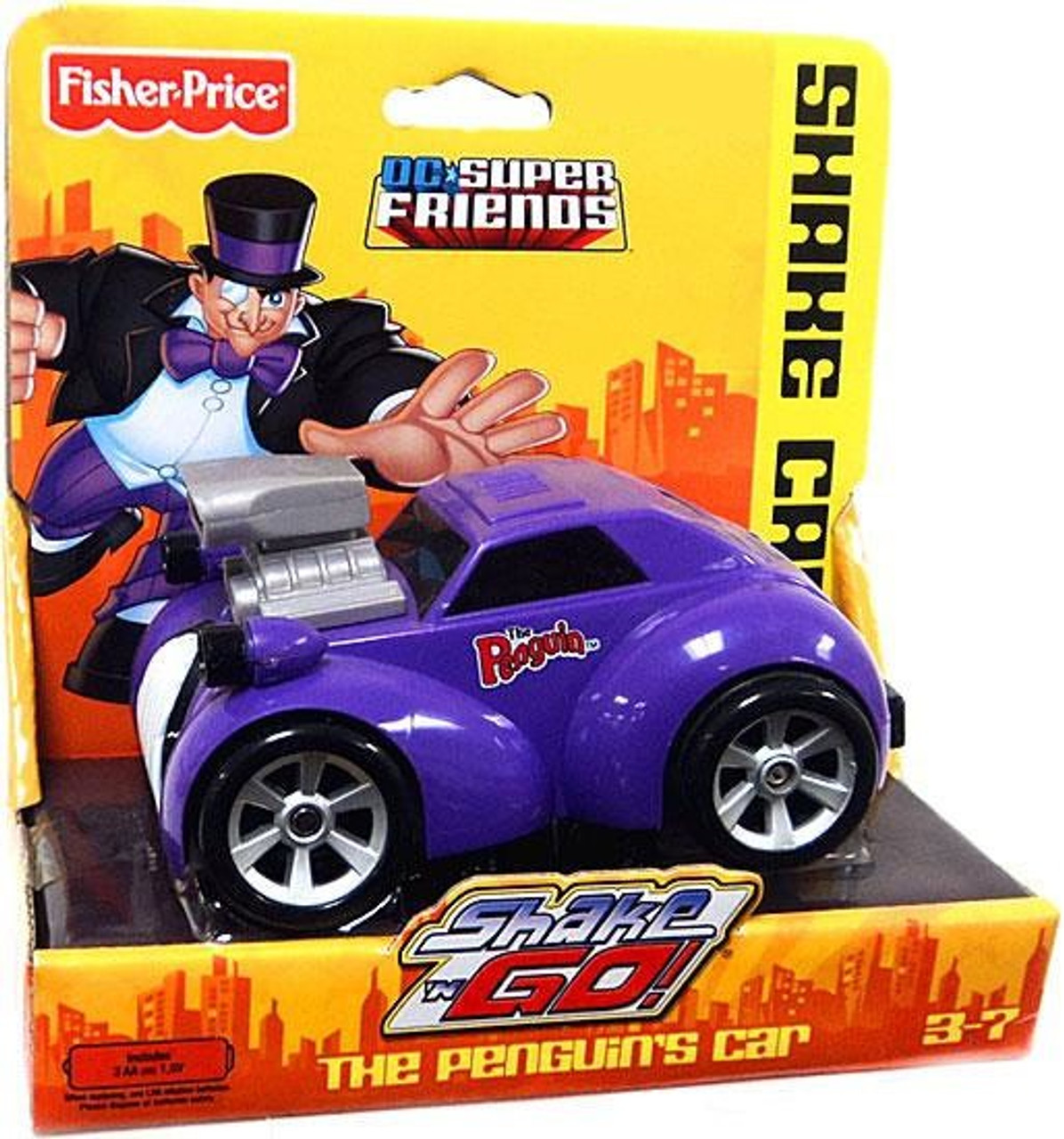 Fisher Price DC Super Friends Batman Shake N Go The Penguin's Car Exclusive 3-Inch Vehicle