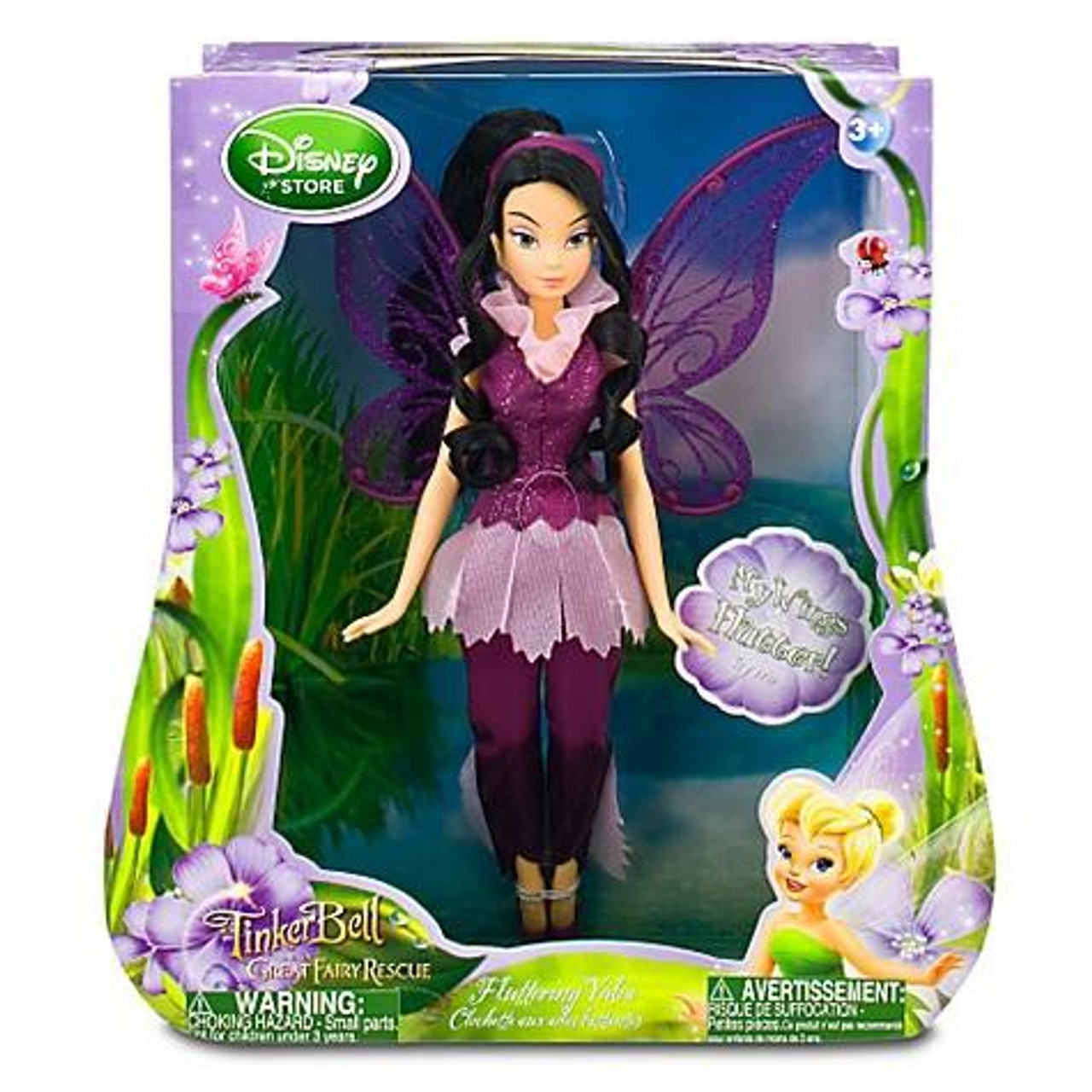 Disney Fairies Tinker Bell Great Fairy Rescue Fluttering Vidia Exclusive 10-Inch Doll