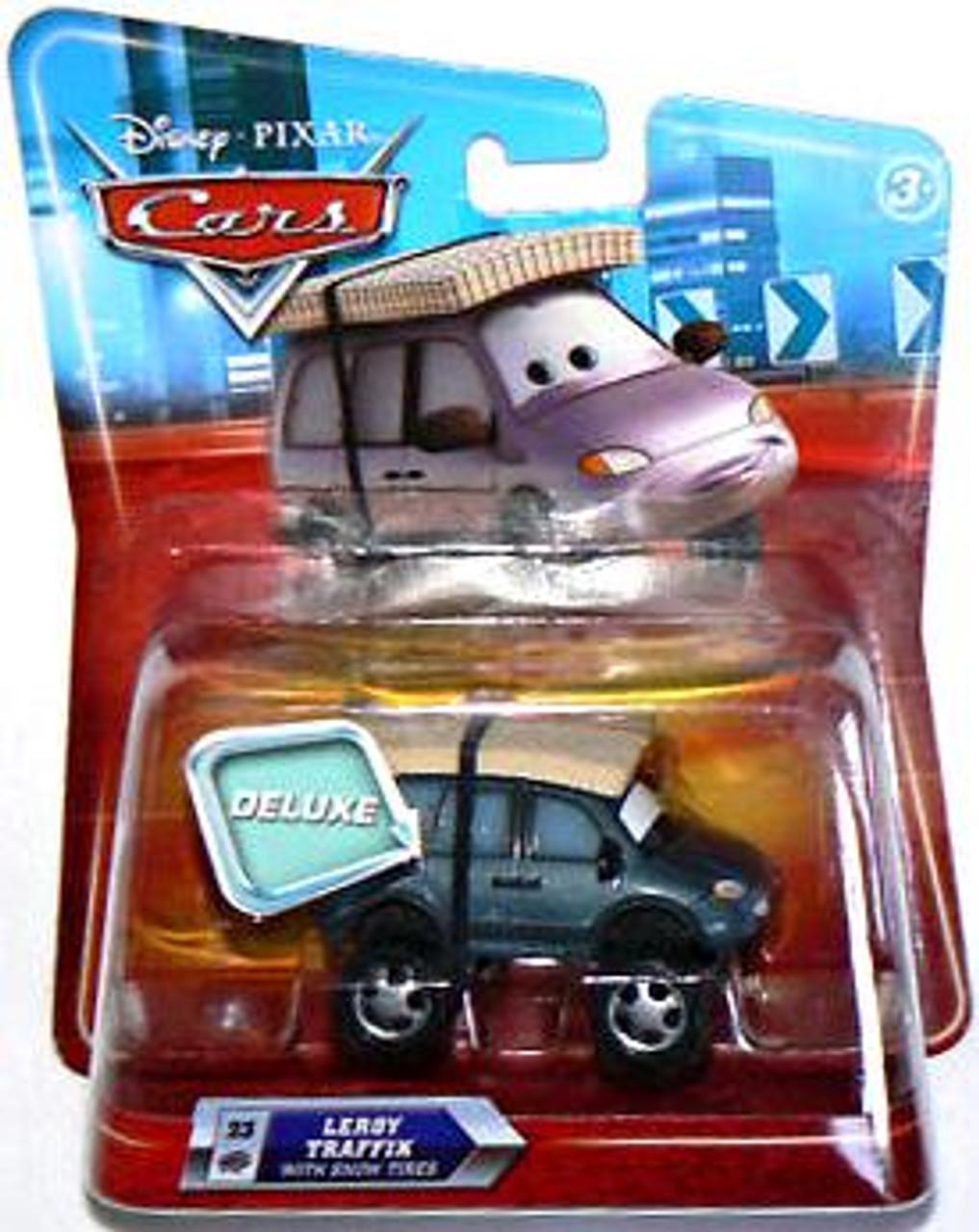 Disney Cars Deluxe Oversized Leroy Traffik Diecast Car [Snow Tires]