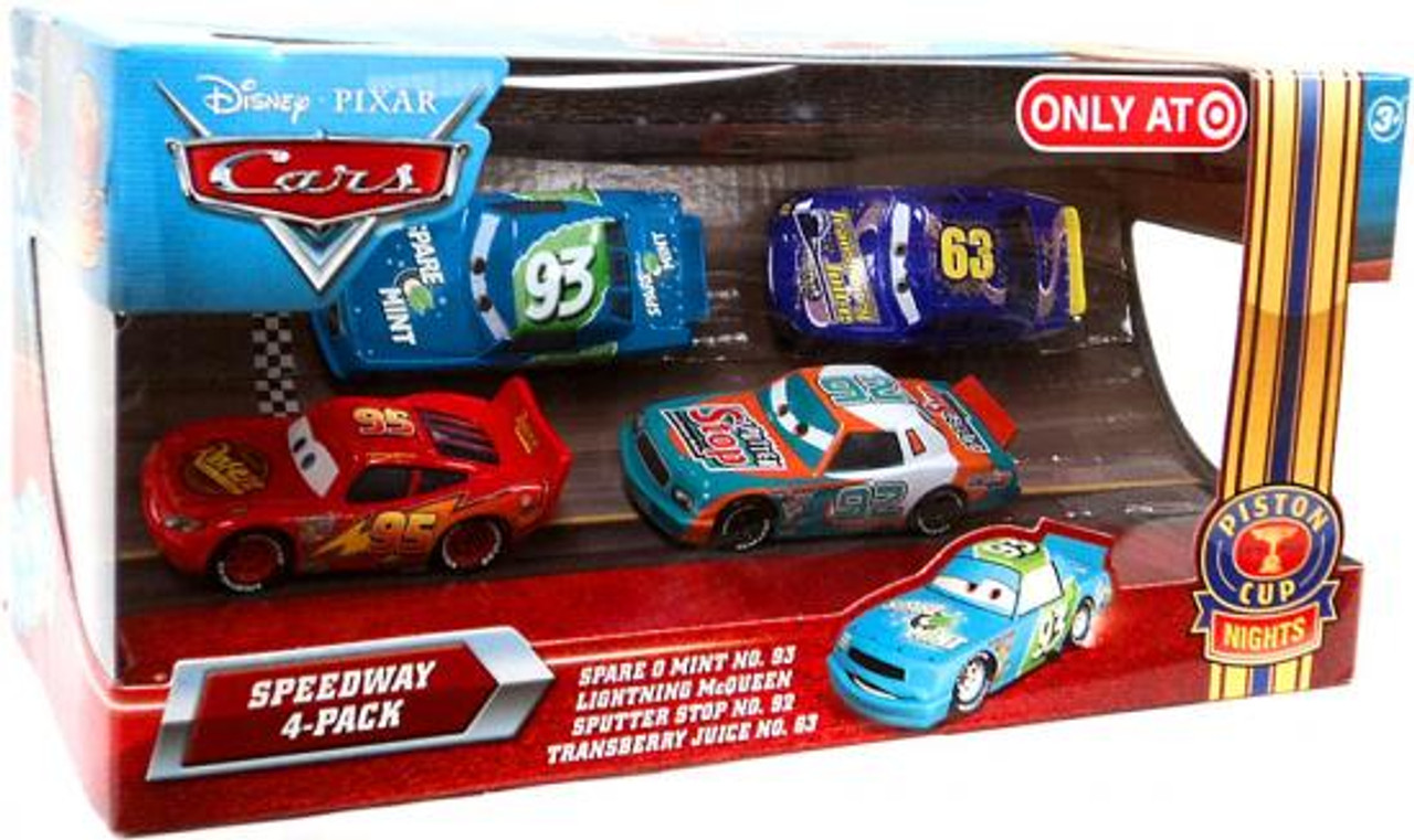 Disney Cars Multi-Packs Speedway 4-Pack Exclusive Diecast Car Set [Spare O Mint]