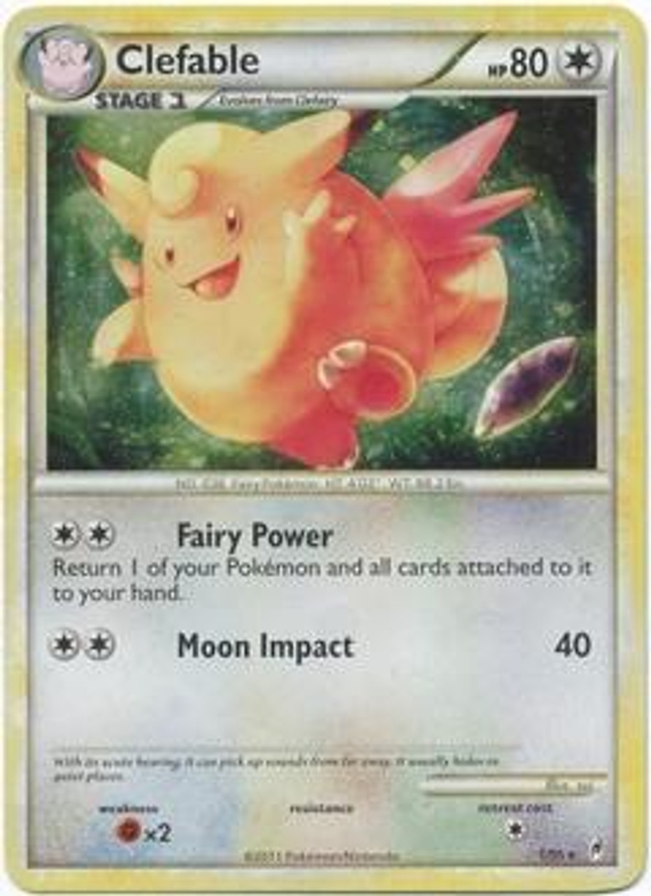 Pokemon Call of Legends Rare Holo Clefable #1