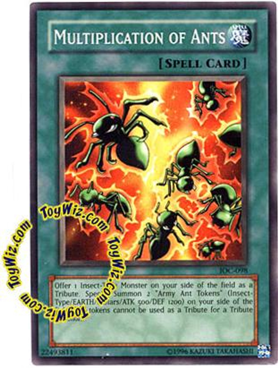 YuGiOh Invasion of Chaos Common Multiplication of Ant IOC-098