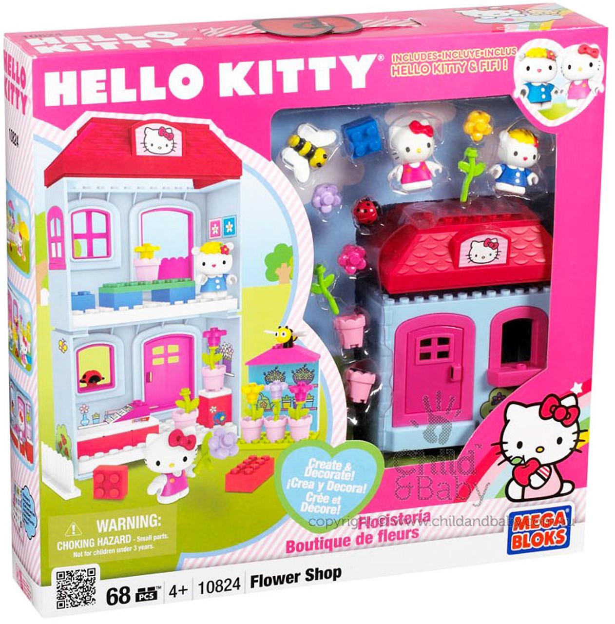 Mega Bloks Hello Kitty Create & Decorate Flower Shop Set #10824