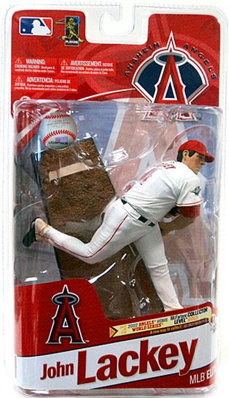 McFarlane Toys MLB Anaheim Angels Sports Picks 2011 Elite Series John Lackey Action Figure [World Series White Jersey]