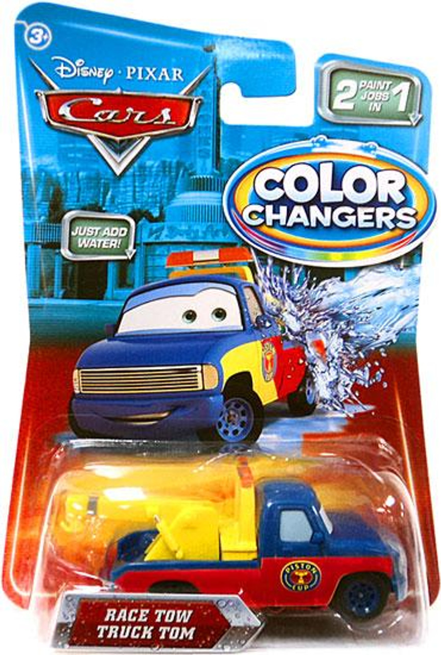 Disney Cars Color Changers Race Tow Truck Tom Diecast Car