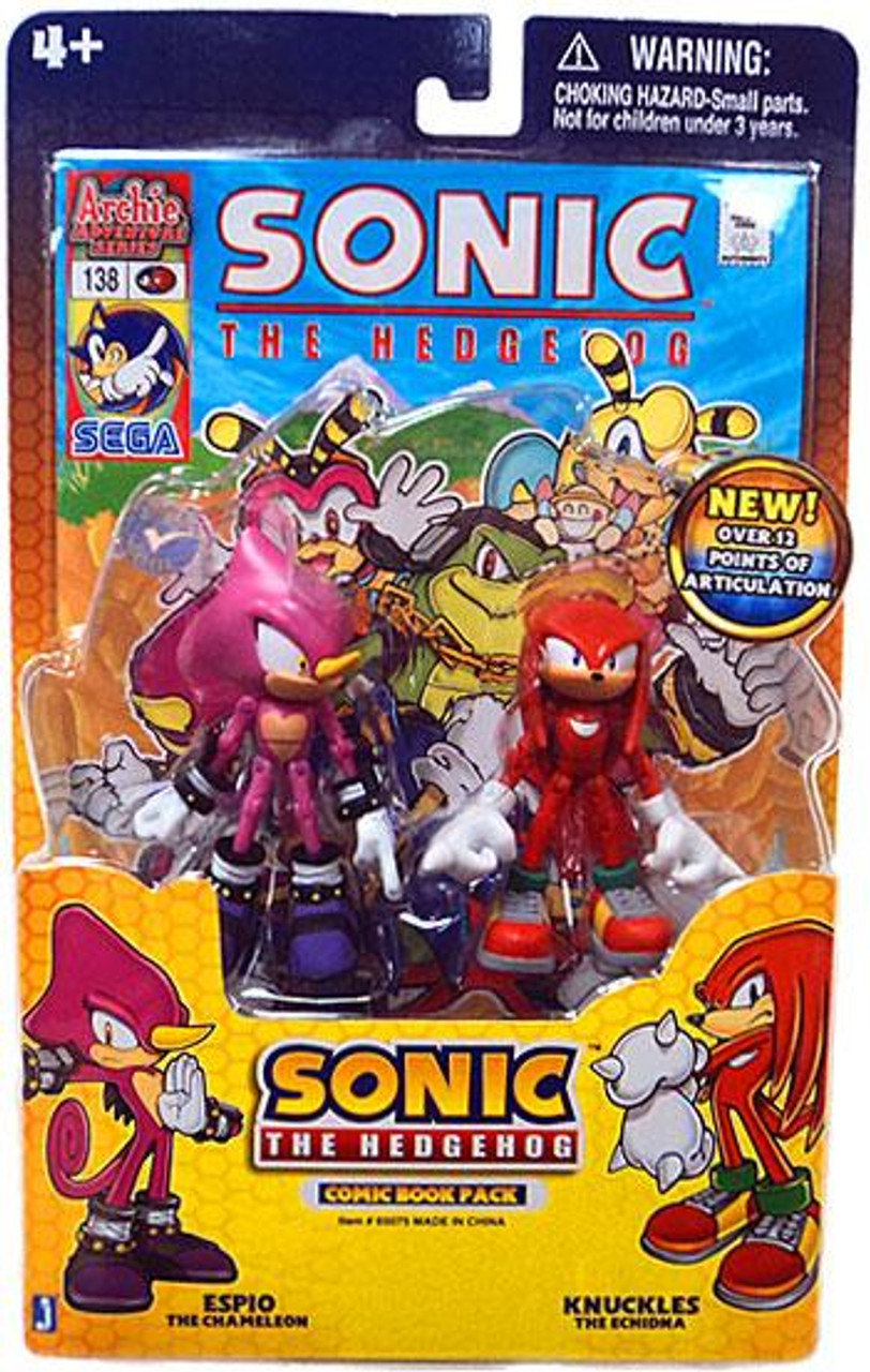 Sonic The Hedgehog Comic Book Pack Espio & Knuckles Action Figure