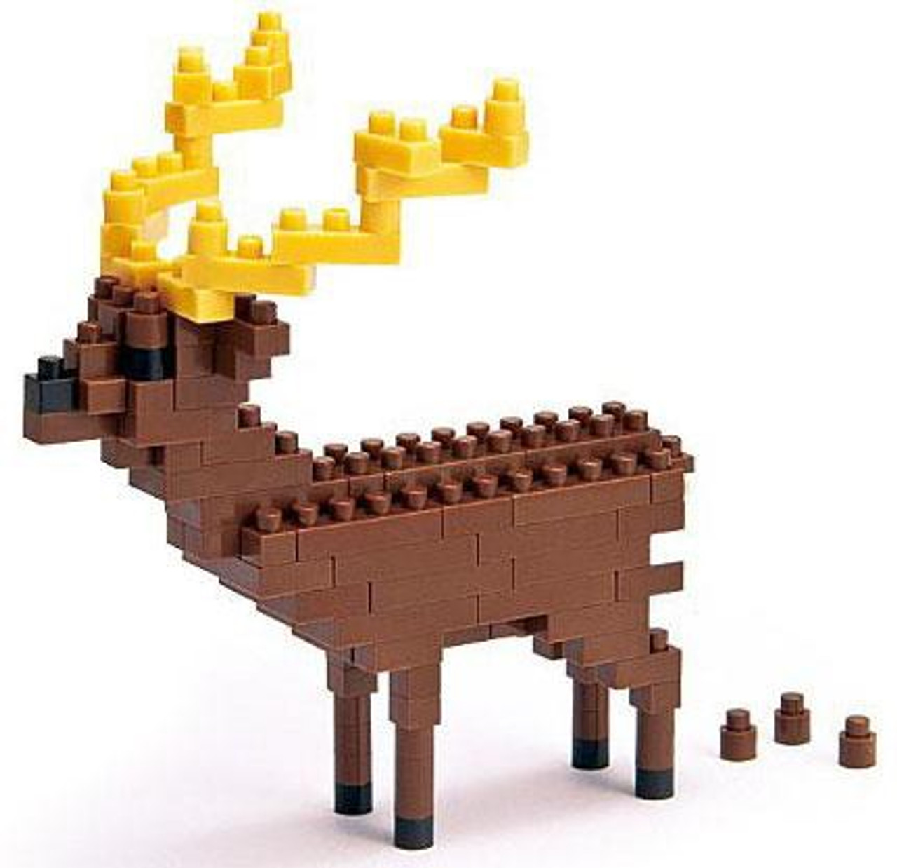Nanoblock Micro-Sized Building Block Sika Deer Figure Set