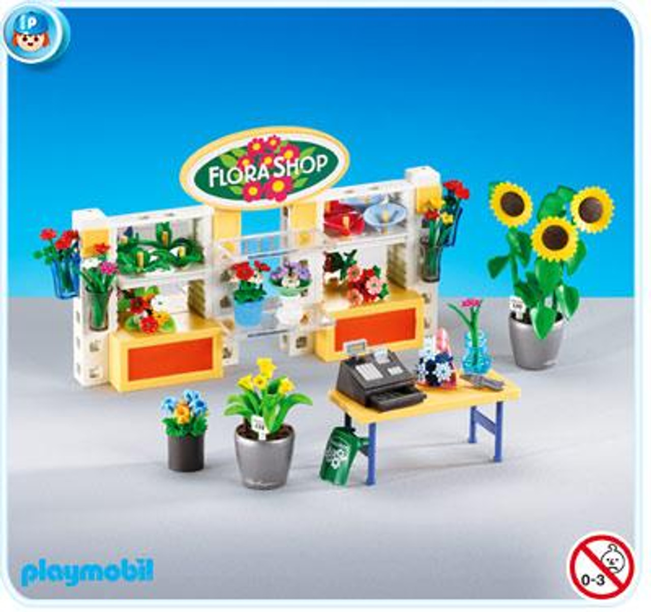 Playmobil Life In The City Flower Shop Interior Set #7496