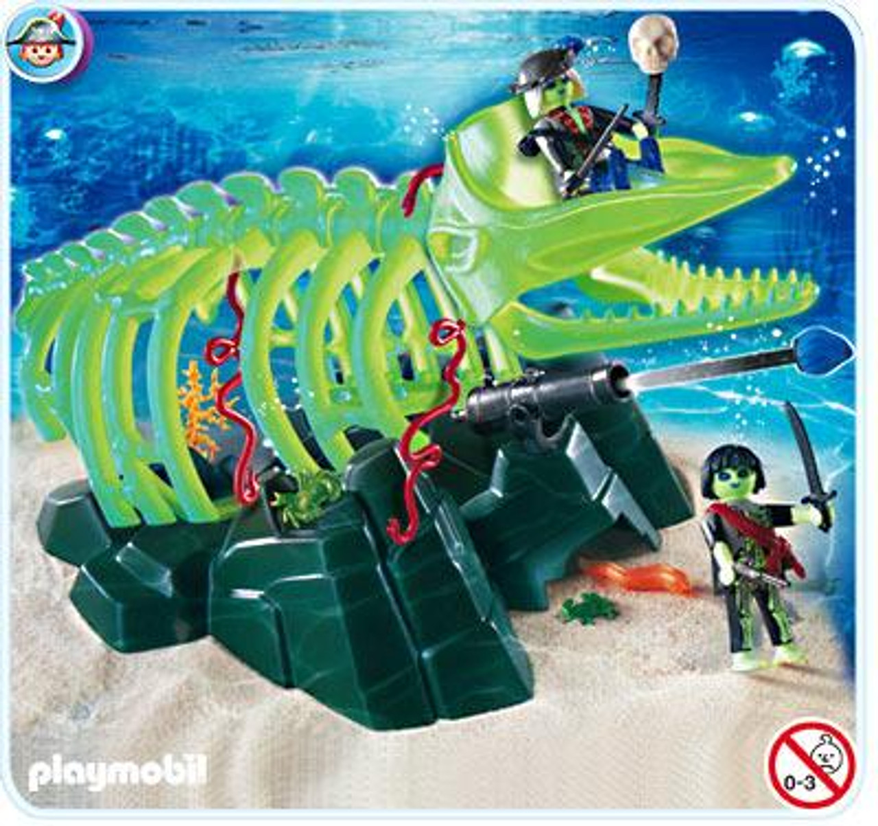Playmobil Ghost Pirates Ghost Whale Skeleton Set #4803