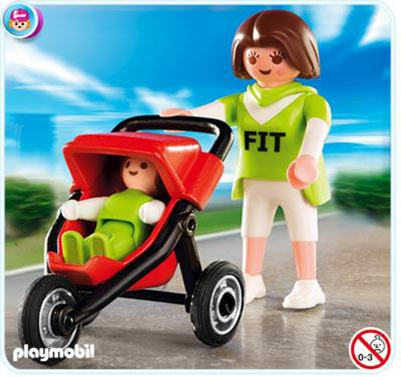 Playmobil Life In The City Mother with Jogging Stroller Set #4697