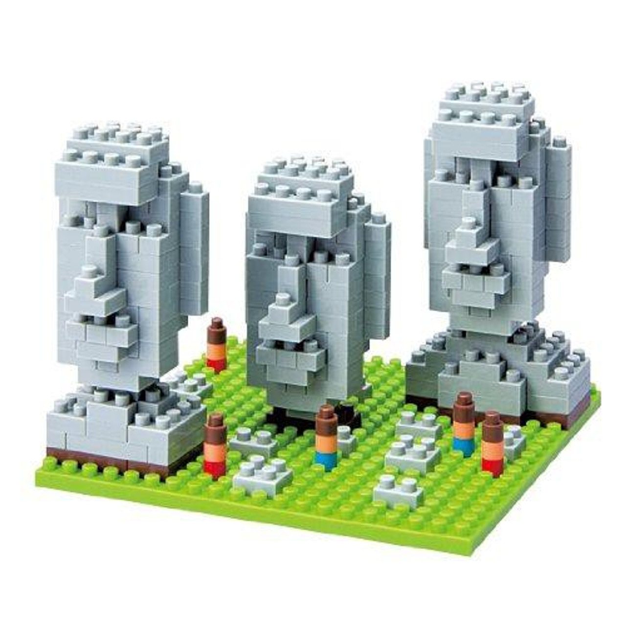 Nanoblock Micro-Sized Building Block Moai Statues on Easter Island Figure Set