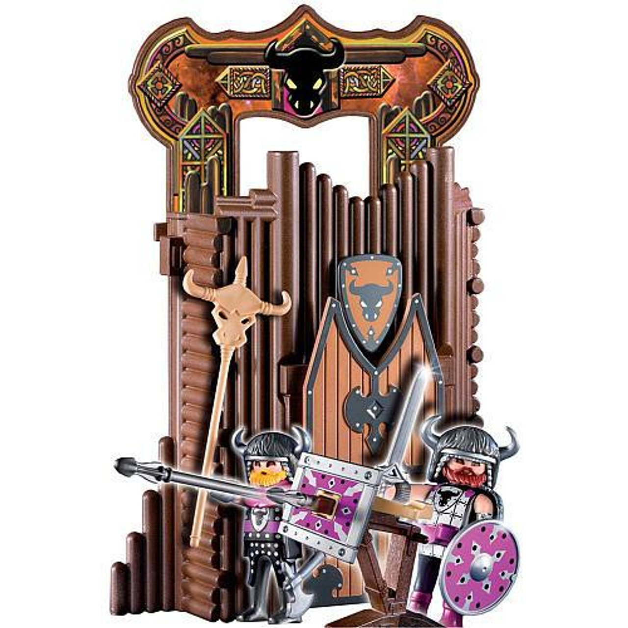 Playmobil Knights Barbarian Take Along Fort Set #4774