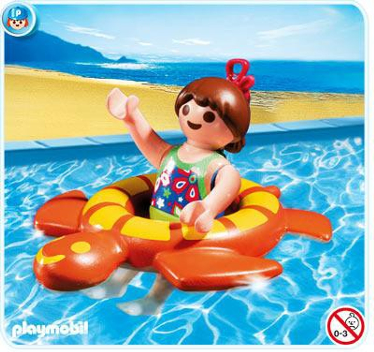 Playmobil Vacation & Leisure Girl with Swimming Ring Set #4860