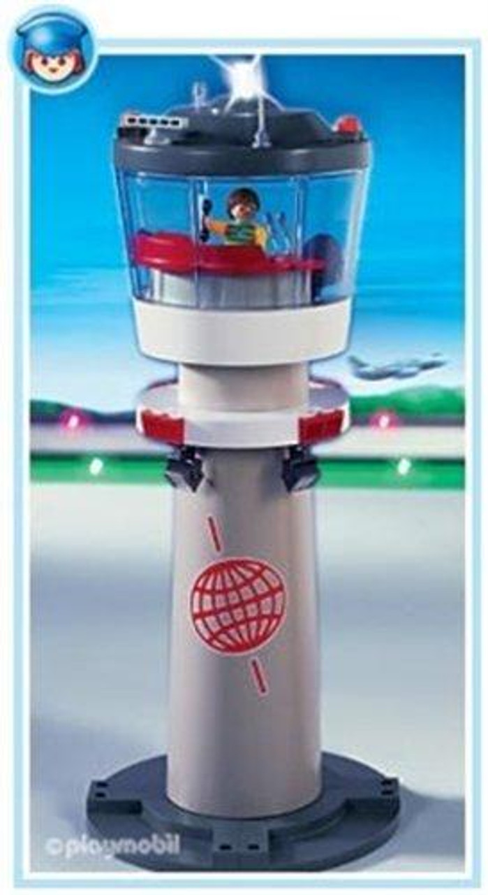 Playmobil Transport Airport Tower with Blinking Light Set #4313