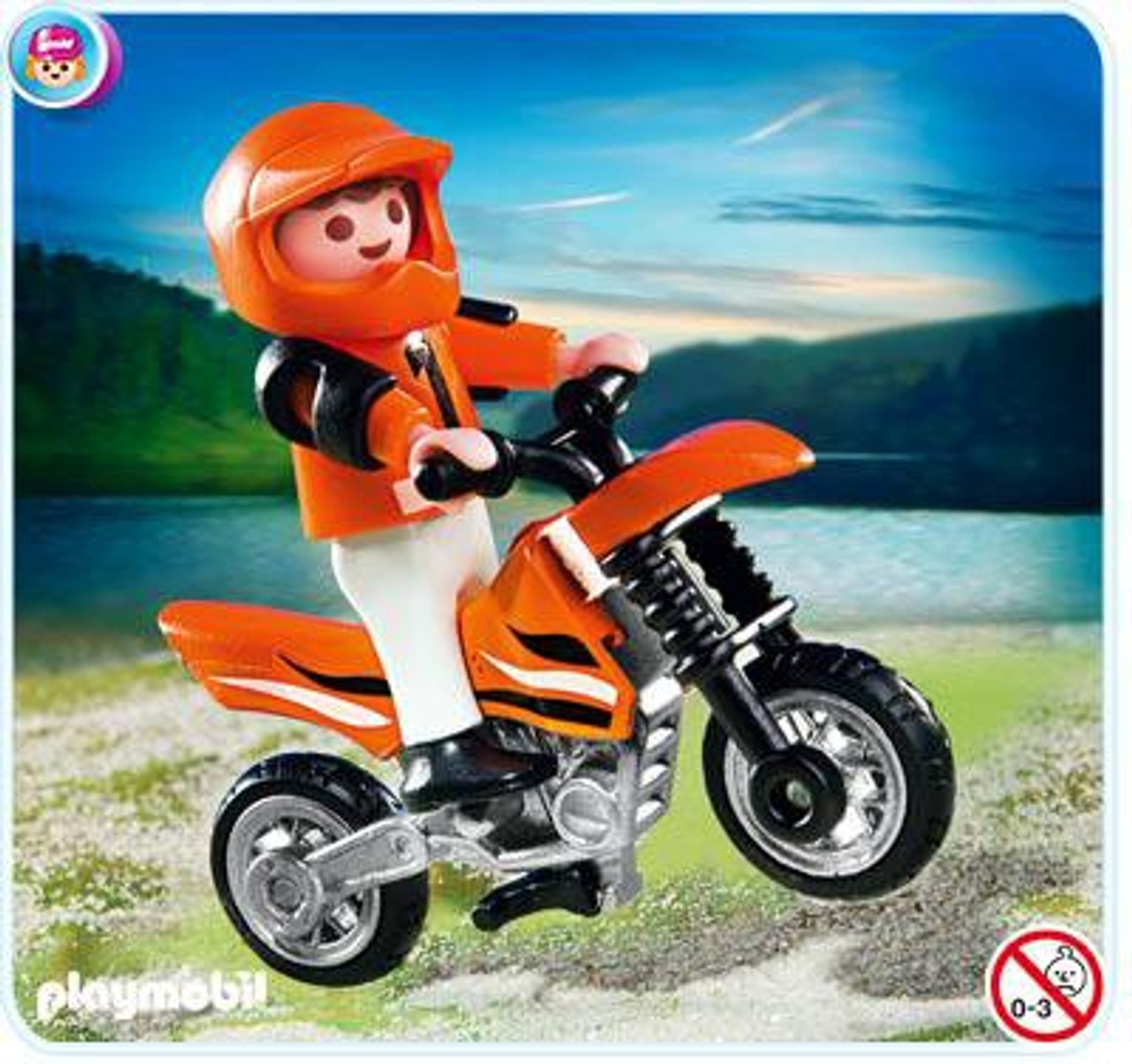 Playmobil Transport Motocross Boy Set #4698
