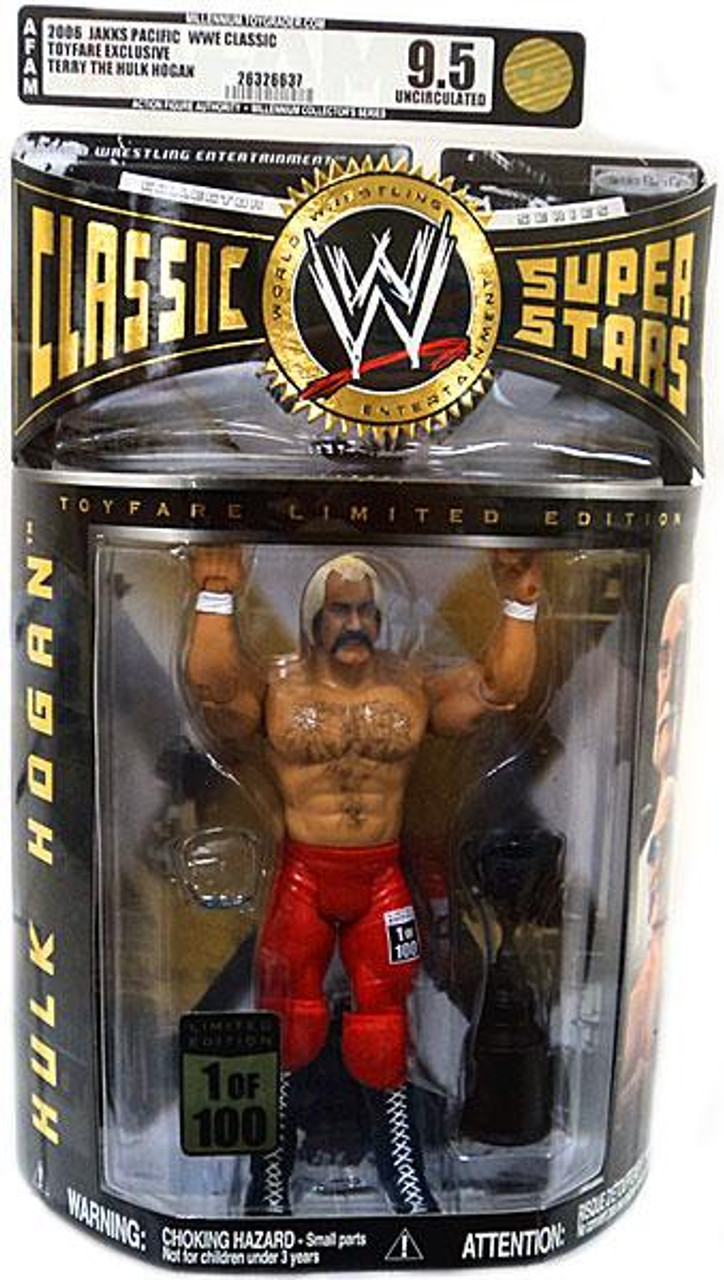 WWE Wrestling Classic Superstars Hulk Hogan Exclusive Action Figure [AFA Graded 95]