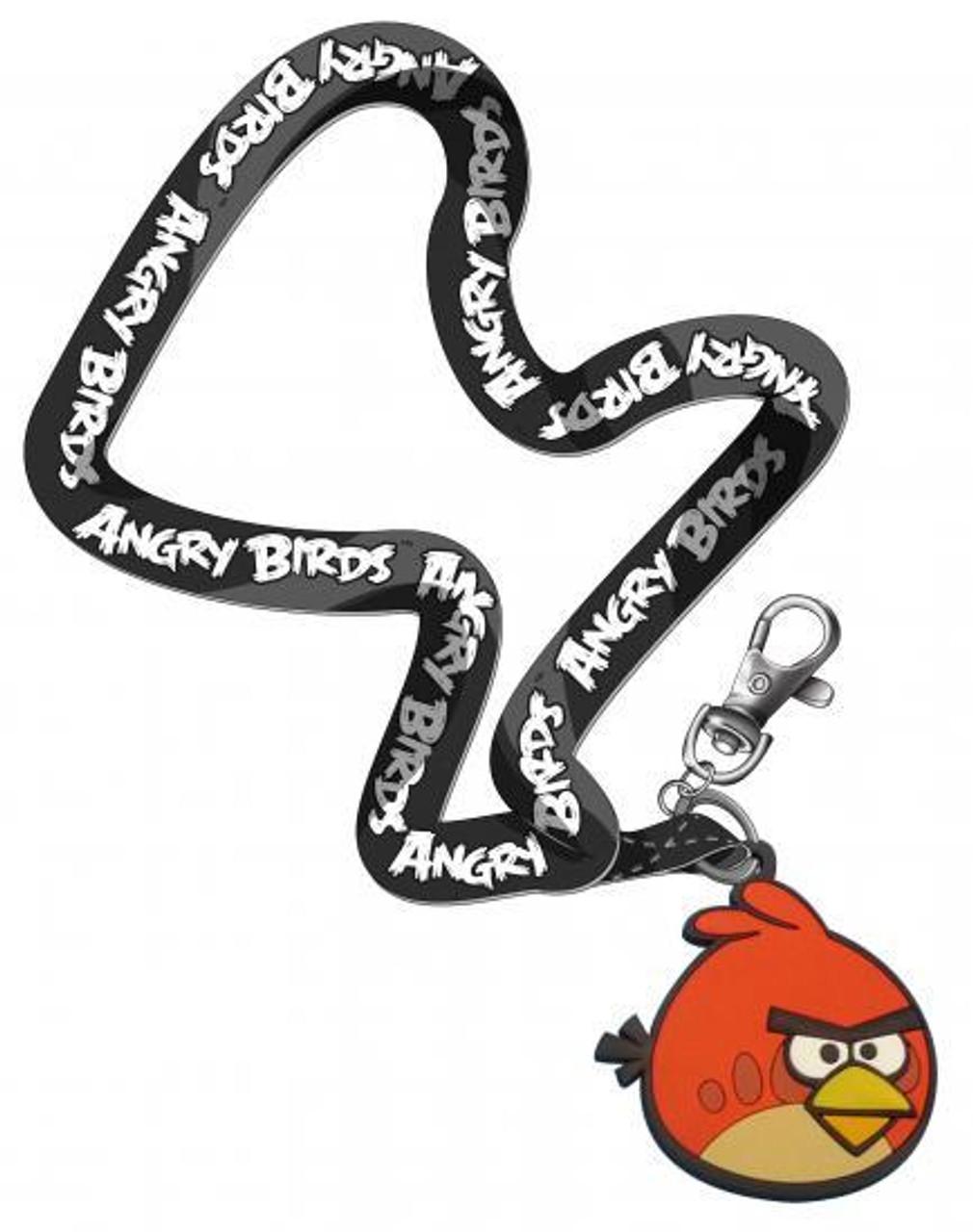 Angry Birds Red Bird Lanyard Keychain