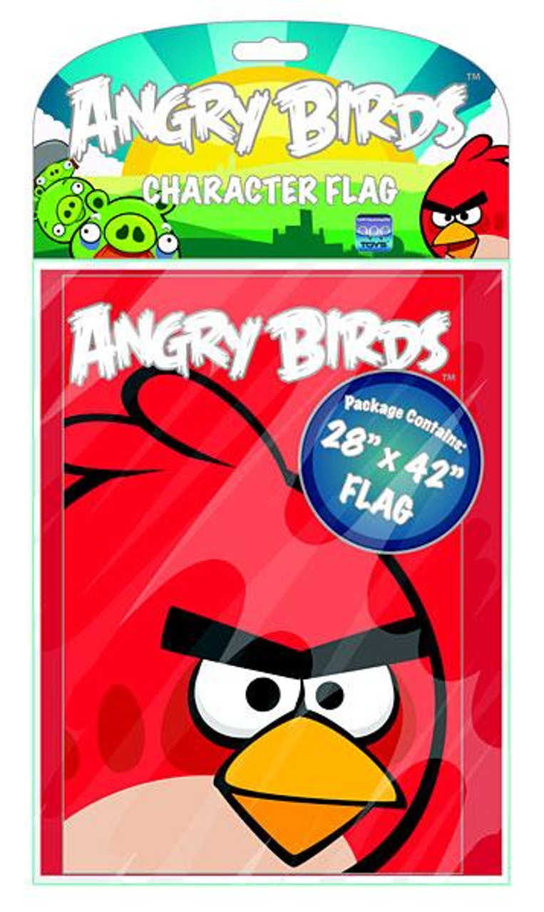 Angry Birds Red Bird Character Flag