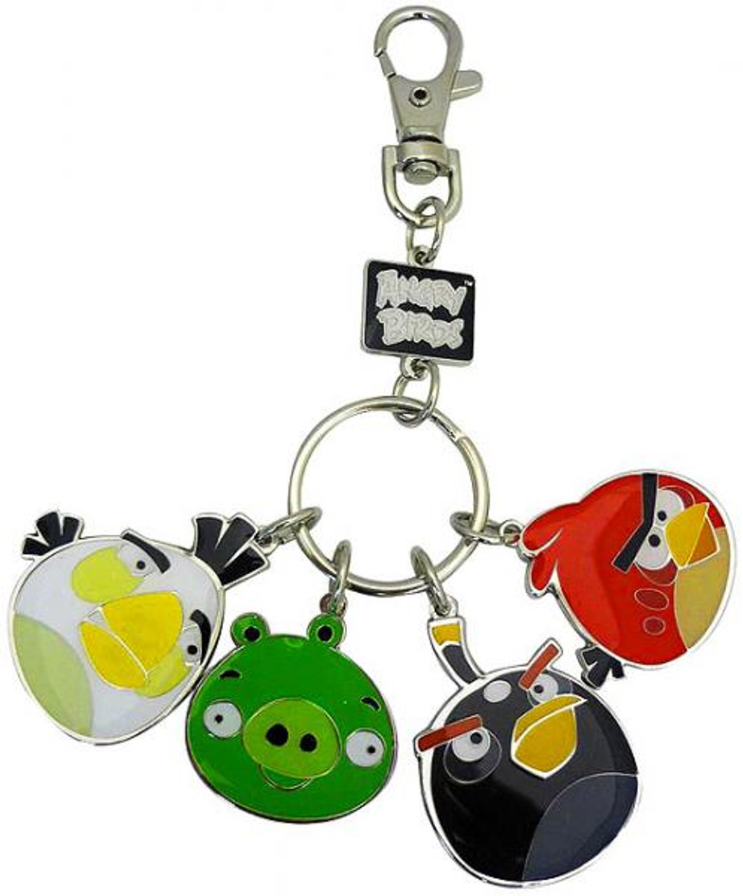 Angry Birds Set of 4 Style 2 Metal Keychains