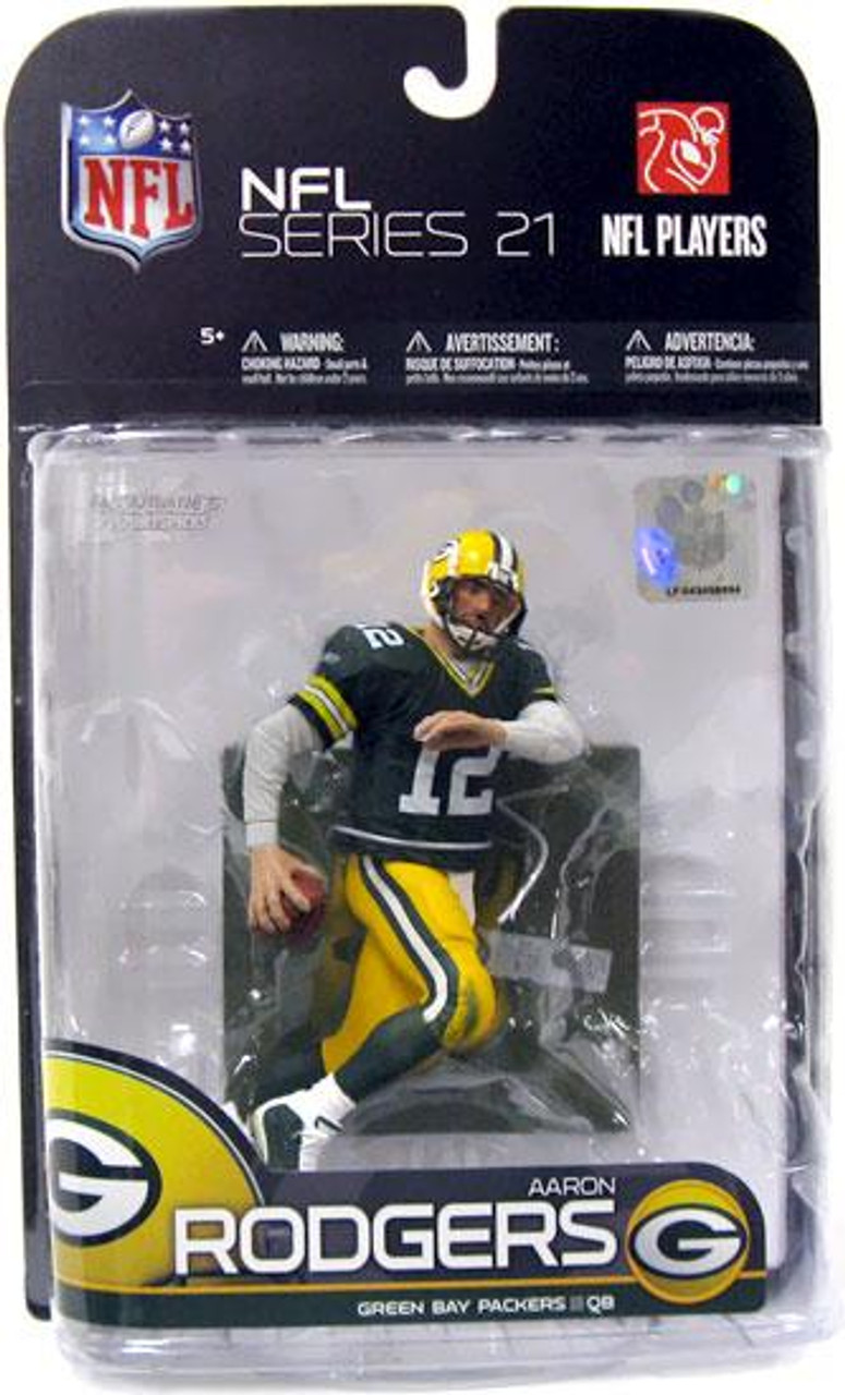 McFarlane Toys NFL Green Bay Packers Sports Picks Series 21 Aaron Rodgers Action Figure [Green Jersey, Loose]