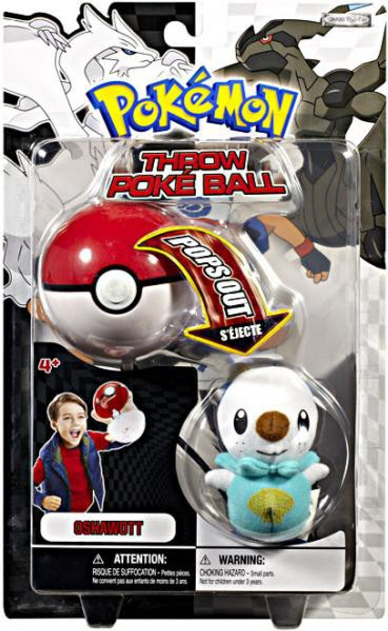 Pokemon Black & White B&W Series 1 Oshawott Throw Poke Ball Plush