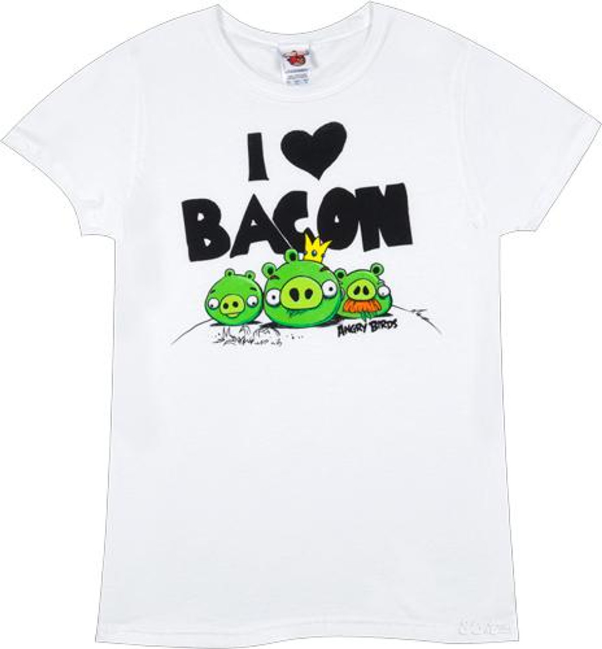 Angry Birds I Heart Bacon T-Shirt [Women's Small]