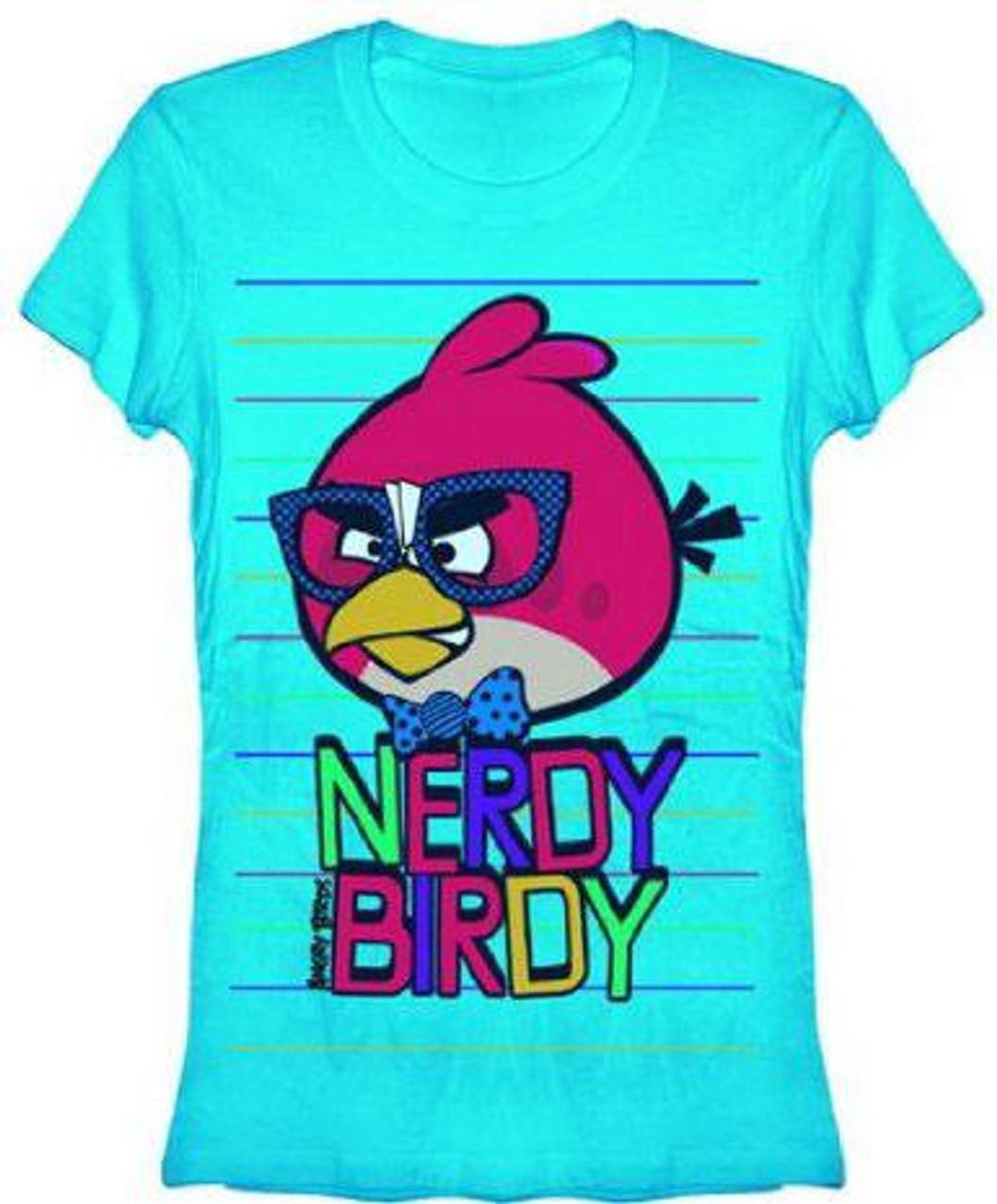 Angry Birds Nerdy Birdy T-Shirt [Women's Large]
