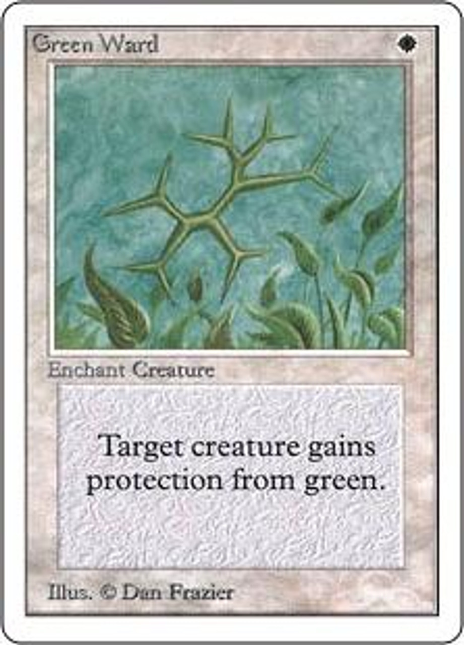 MtG Unlimited Uncommon Green Ward