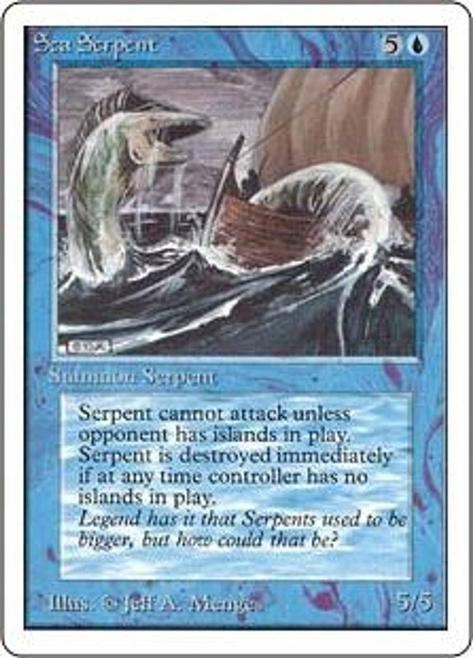 MtG Unlimited Common Sea Serpent