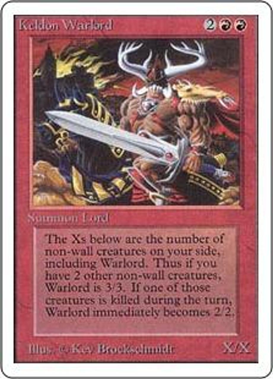 MtG Unlimited Uncommon Keldon Warlord