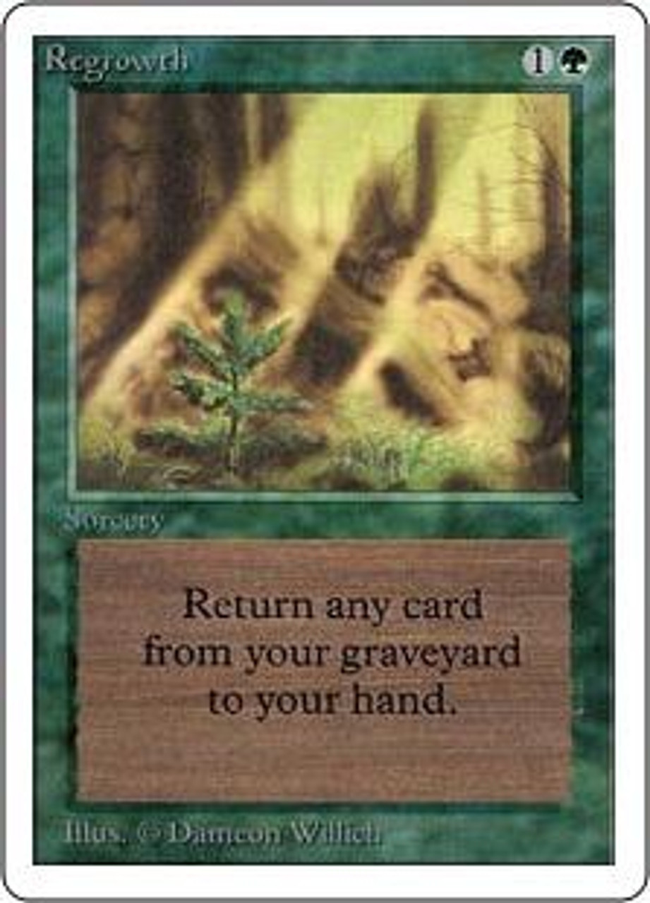 MtG Unlimited Uncommon Regrowth