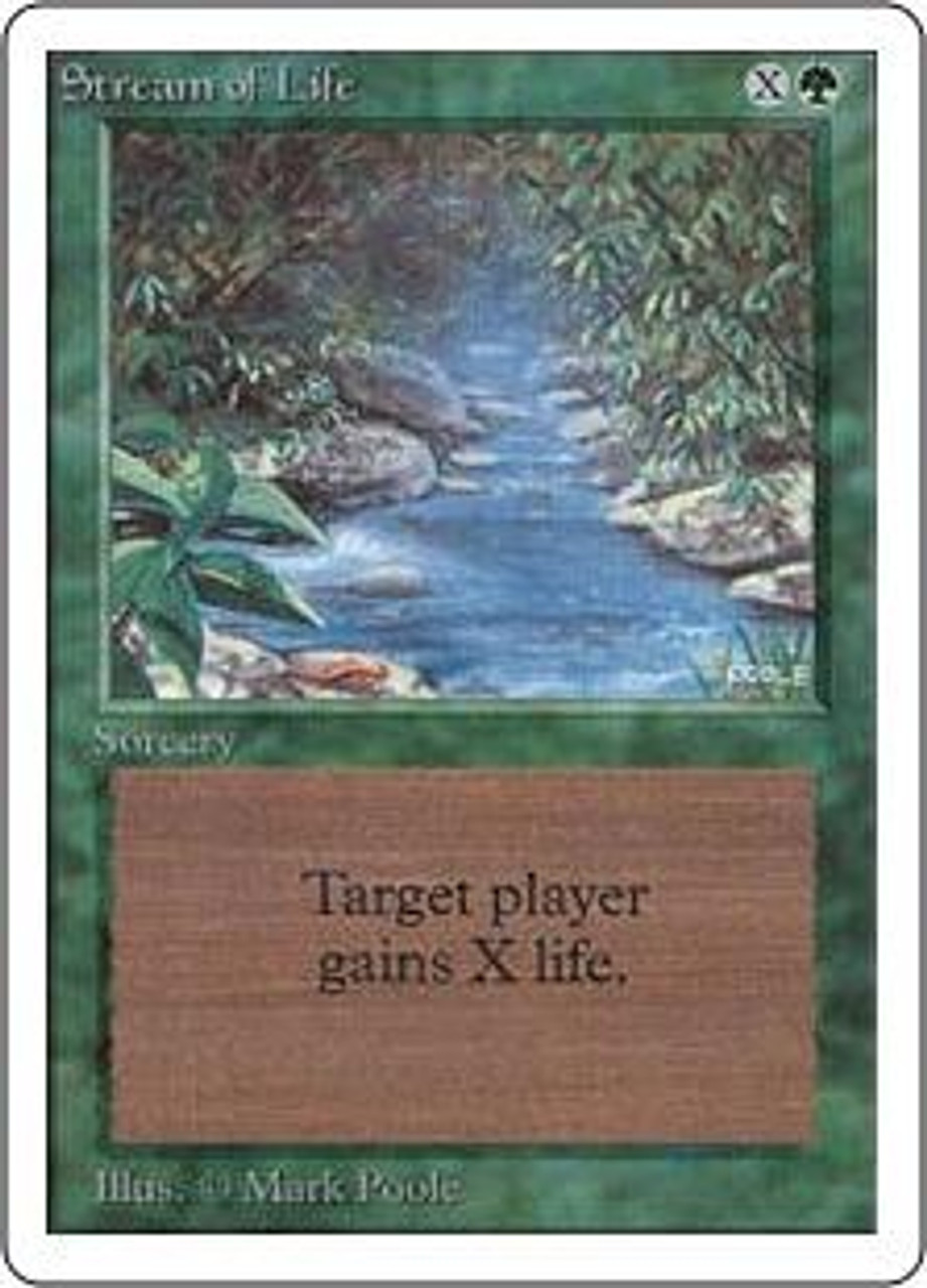 MtG Unlimited Common Stream of Life