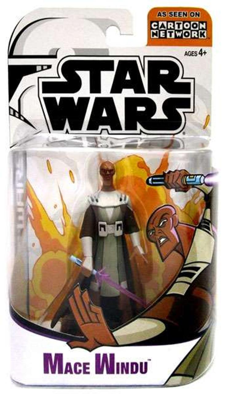 Star Wars The Clone Wars Clone Wars Cartoon Network Mace Windu Action Figure