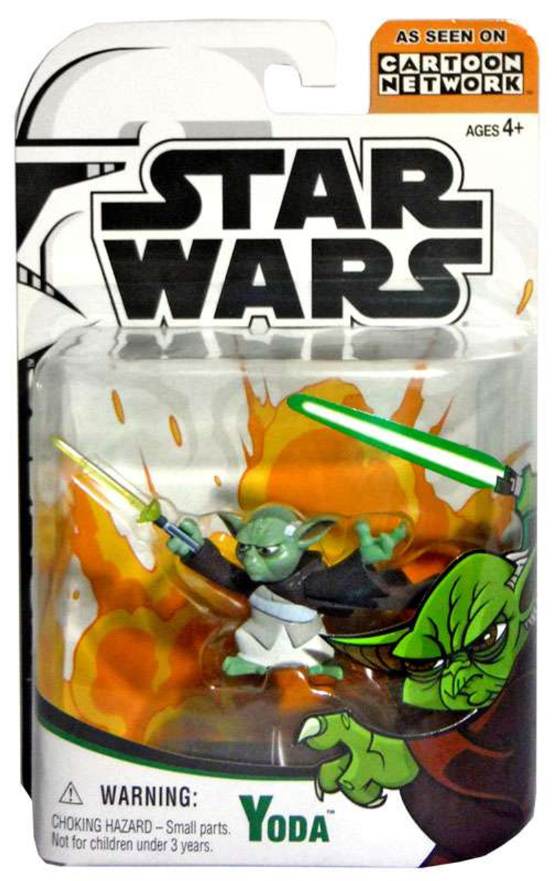 Star Wars The Clone Wars Clone Wars Cartoon Network Yoda Action Figure