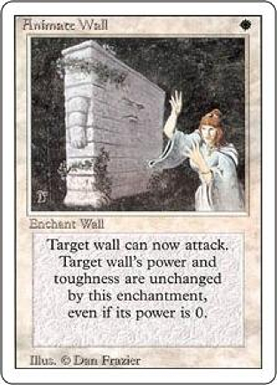 MtG Revised Rare Animate Wall