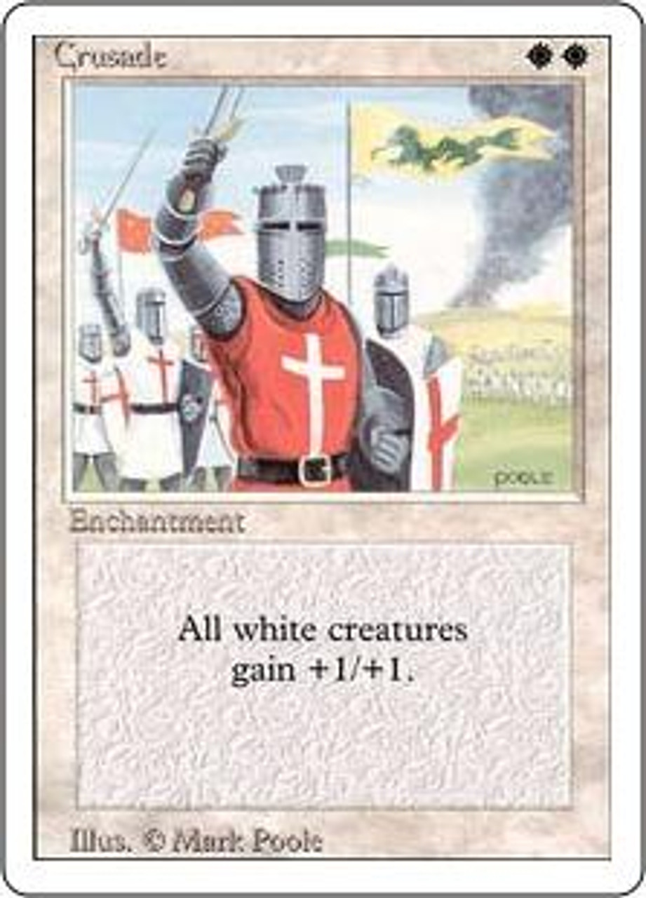 MtG Revised Rare Crusade [Slightly Played Condition]